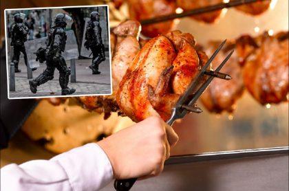 Imagen que ilustra denuncia de concejal por sobrecostos en combos de pollo para el Esmad de Policía en Bogotá
