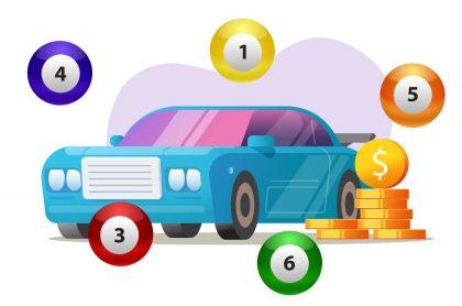 Carro con balotas y monedas alrededor ilustra qué lotería jugó anoche y resultados de las loterías de la Cruz Roja y Huila (fotomontaje Pulzo).