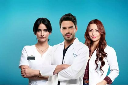 Foto de Diana Hoyos, Sebastián Carvajal y 'Tata' Ariza, de 'Enfermeras'