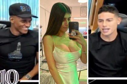 James Rodríguez y Yerry Mina se divierten con pregunta sobre Mia Khalifa