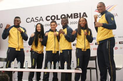 Los boxeadores colombianos que fueron a Tokio 2020.