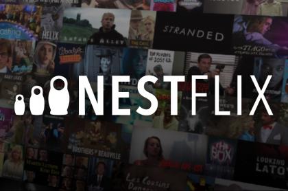 Foto de Nestflix, una parodia de Netflix con series y películas falsas nacidas de reales.