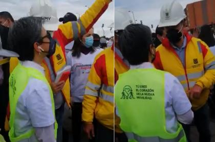 Claudia López fue abucheada hoy en Kennedy, sur de Bogotá, durante un recorrido.