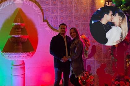 Foto de Andrés Gutiérrez y su esposa y de Luisa Fernanda W y Pipe Bueno, en nota e fiesta que hizo el socio en el restaurante Rancho MX.