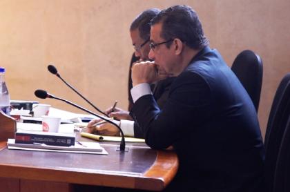 El exmagistrado Gustavo Malo, durante la lectura de su sentencia.