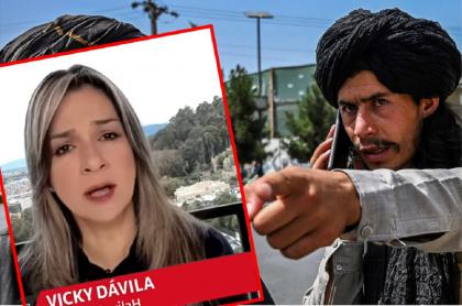"""Imagen de Vicky Dávila superpuesta a la de un talibán ilustra artículo """"En Colombia tenemos nuestros 'Talibanes' que quieren tomarse el país"""": Vicky Dávila"""