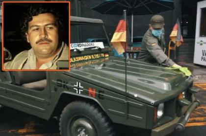 Imagen del carro Volkswagen de Pablo Escobar que es ícono de autos antiguos en Medellín