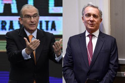 Humberto de la Calle y Álvaro Uribe Vélez.