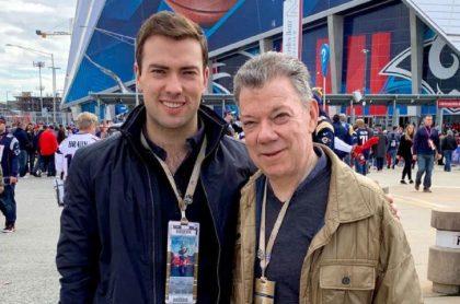 Juan Manuel Santos y Esteban Santos, quien inició maestría en Harvard