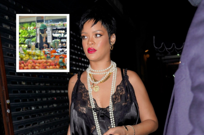 Fotos de Rihanna haciendo mercado con estilo (Chanel y Gucci).