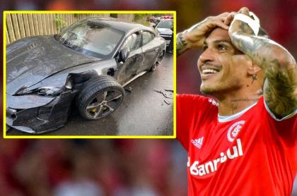 Paolo Guerrero se estrelló en su costoso Porsche