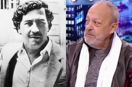 Fotos de Pablo Escobar y 'el Gordo' Benjumea, en que el narcotraficante se camuflaba en shows del artista.