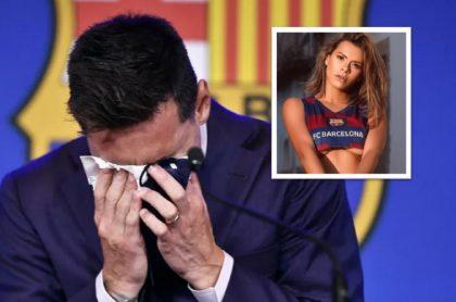 Luana Sandien, modelo brasileña que salió en la revista Playboy, quiere comprar pañuelo que uso Lionel Messi para tomarse sensuales fotos con él.