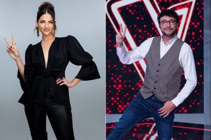 Natalia Jiménez y Andrés Cepeda en 'La voz kids', a propósito de que confesaron si apadrinan a niños del programa de Caracol.