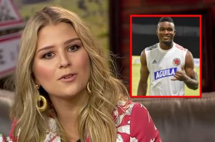 Andrea Guerrero respalda a Jhon Córdoba luego de que no lo convocaran a la Selección Colombia.