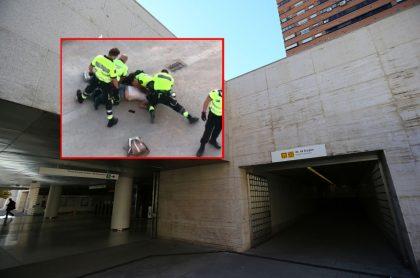 Video de colombiano asfixiado por vigilantes de metro de Valencia (España)