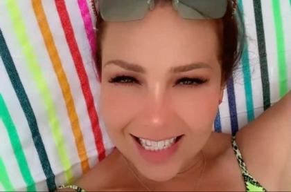 Foto de Thalía, en nota de su cumpleaños y fotos en las que mostró su cuerpo.