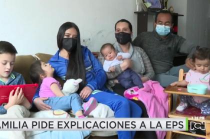 Familia bogotana que denuncia fallo en método de planificación