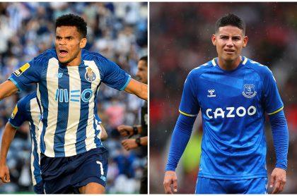 Everton y Porto harían negocio para cambiar a Luis Díaz y James Rodríguez