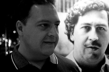 Juan Pablo Escobar junto a Pablo Escobar en nota que habla de la actualidad laboral de los hijo del capo.
