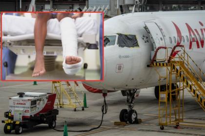 Avión de Avianca, aerolínea que respondió a denuncia de mujer que no pudo viajar con su hijo enyesado