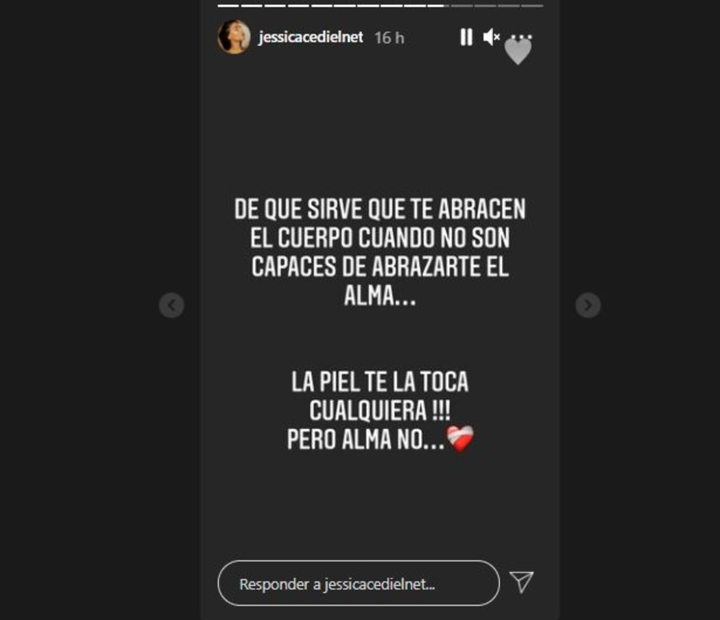 Captura de pantalla Instagram Jessica Cediel