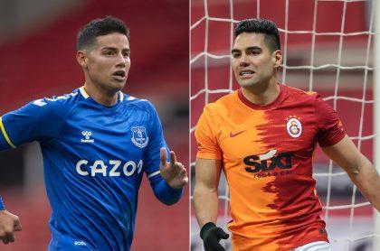 James Rodríguez, en Everton, y Falcao García, en Galatasaray, a propósito de cuánto valen en el mercado hoy, día de cierre de fichajes.