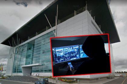 Imágenes que ilustran el ciberataque contra la Aerocivil.