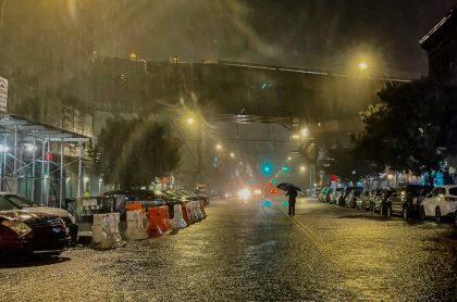 Lluvias en  Nueva York, provocadas por huracán Ida, por el que se declaró estado de emergencia