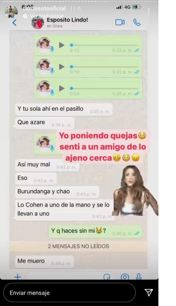 Captura de pantalla historia Instagram caritosotooficialb.