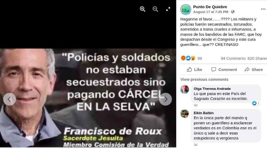 Fake news sobre Francisco de Roux
