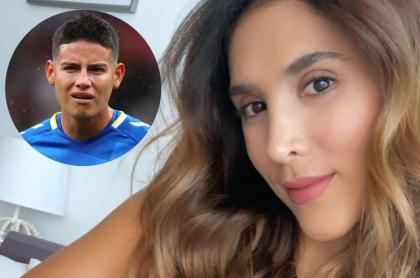 Fotos de Daniela Ospina y James Rodríguez, en nota de que la madre la persiguió en la calle.