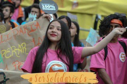 Jóvenes de la solidaridad por Colombia