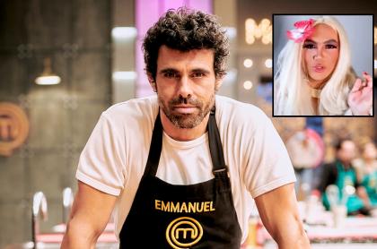 Emmanuel Esparza en 'Masterchef' y Omar Vásquez como Diva Rebeca, a propósito de apuesta que hicieron.