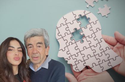 Jessica Cediel con su papá Alfonso Cediel, a propósito de qué es el Párkinson enfermedad que padece él (fotomontaje Pulzo).