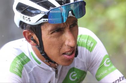 Egan Bernal dice no tener piernas ni opciones de podio en Vuelta a España 2021. Imagen del corredor colombiano.