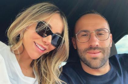 Jessica Sterling con su esposo, David Ospina, a propósito que confesó su le revisa el celular al arquero de Colombia.