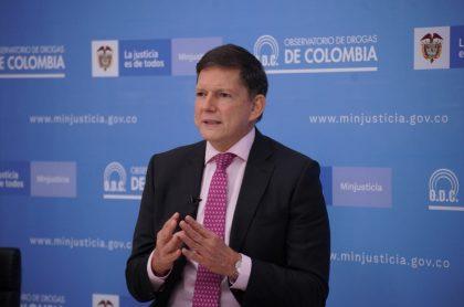 Imagen del ministro de Justicia que ilustra nota; Bogotá hoy: ministro de Justicia visitó URI y nadie lo reconoció