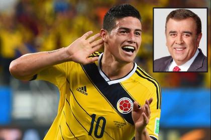 James Rodríguez feliz en la Selección Colombia y Javier Hernández Bonnet, a propósito de que el periodista de Caracol confirmó que el futbolista vuelve a 'la Tricolor'.