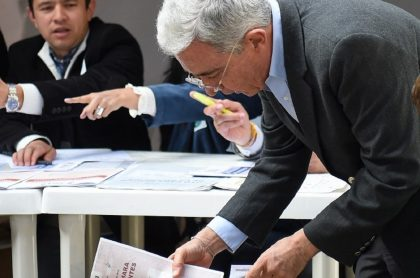 El expresidente colombiano Álvaro Uribe Vélez.