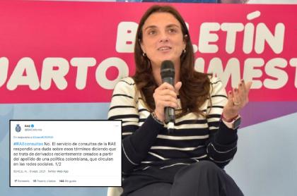 Imagen de la ministra TIC, Karen Abudinen, quien pidió explicaciones a RAE por mal uso de su apellido