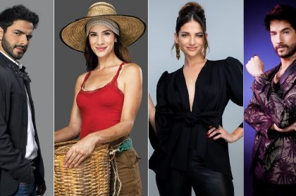 Sebastián Carvajal en 'Enfermeras', Laura Londoño en 'Café', Natalia Jiménez en 'La voz kids', y Carlos Torres en 'La reina del flow', a propósito de 'rating' de Caracol vs. RCN que cambió de líder el 6 de septiembre.