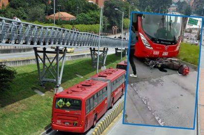 Imagen que ilustra accidente de Transmilenio.