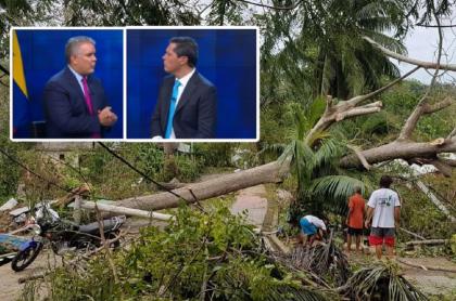 Iván Duque habló con Juan Roberto Vargas, en Noticias Caracol, sobre la reconstrucción de Providencia