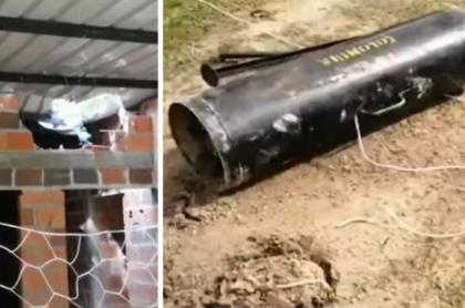 Eln lanzó explosivos al Ejército y cayeron en un colegio; hubo 3 niños heridos