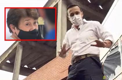Video de Juan Diego Alvira puso a correr a una señora con una pregunta en la plaza de mercado.