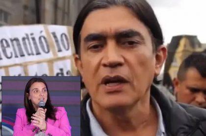 Gustavo Bolívar y Karen Abudinen, para nota de críticas del senador en Twitter
