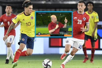 Carlos Antonio Vélez crítico tras el partido de Colombia vs. Chile.