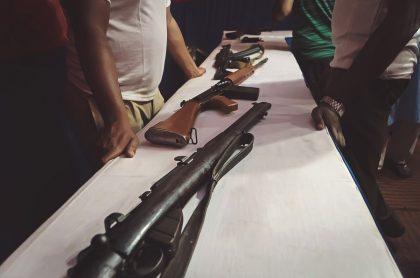 Imagen de armas que ilustra nota: Militares capturados por presunta participación en tráfico de armas