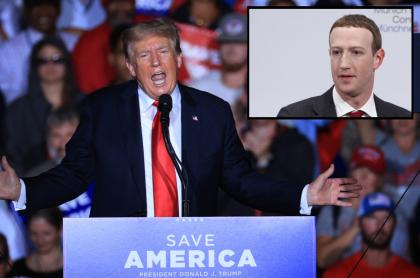 Imagen de Donald Trump, que insulta a Mark Zuckerberg por bajarlo de Facebook